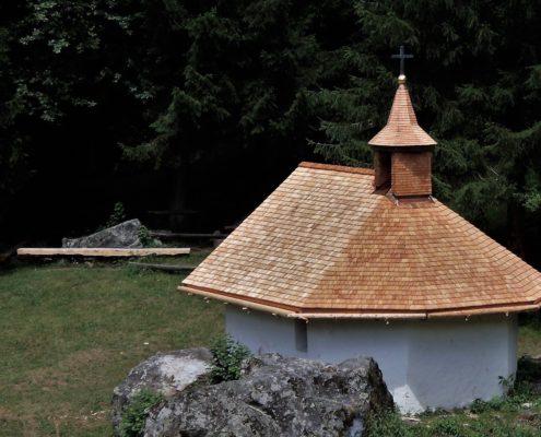 Holzschindeln, Kapelle Bruderhausen in Silenen
