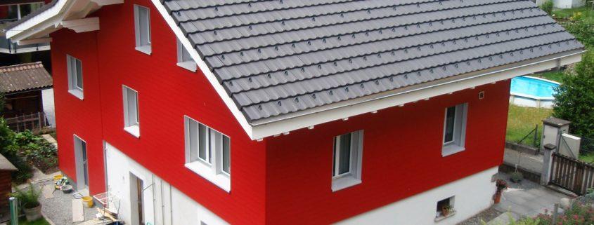 Falzziegeldach, Wohnhaus in Erstfeld