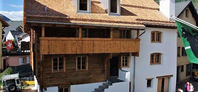 Holzschindeldach Nossenhaus, Andermatt