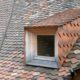 Schleppgaube mit Tonziegeleindeckung, Ziegelhütte in Flüelen