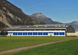 Sandwichpaneele, Industriegebäude in Erstfeld