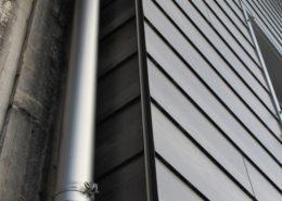 Dachrinne an Wohnhaus, Urnerboden