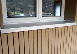 Fensterbank Aluminium, EFH Erstfeld