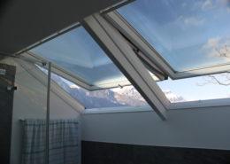 Dachfenster Zwillingseinbau Nasszelle