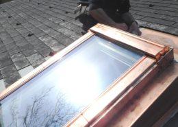 Dachfenster-Eindeckrahmen aus Kupfer