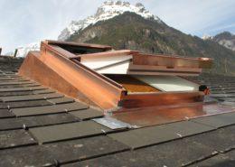 Dachfenster-Eindeckrahmen, Massanfertigung aus Kupfer